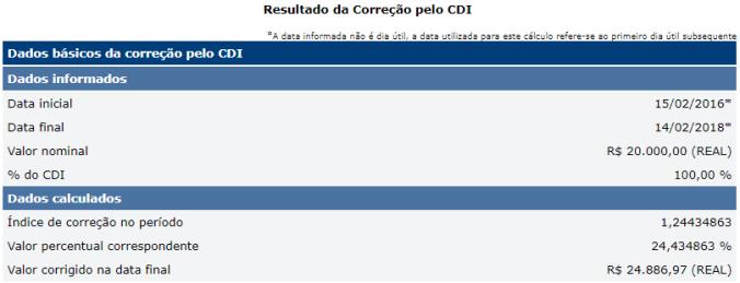 Cálculo CDI